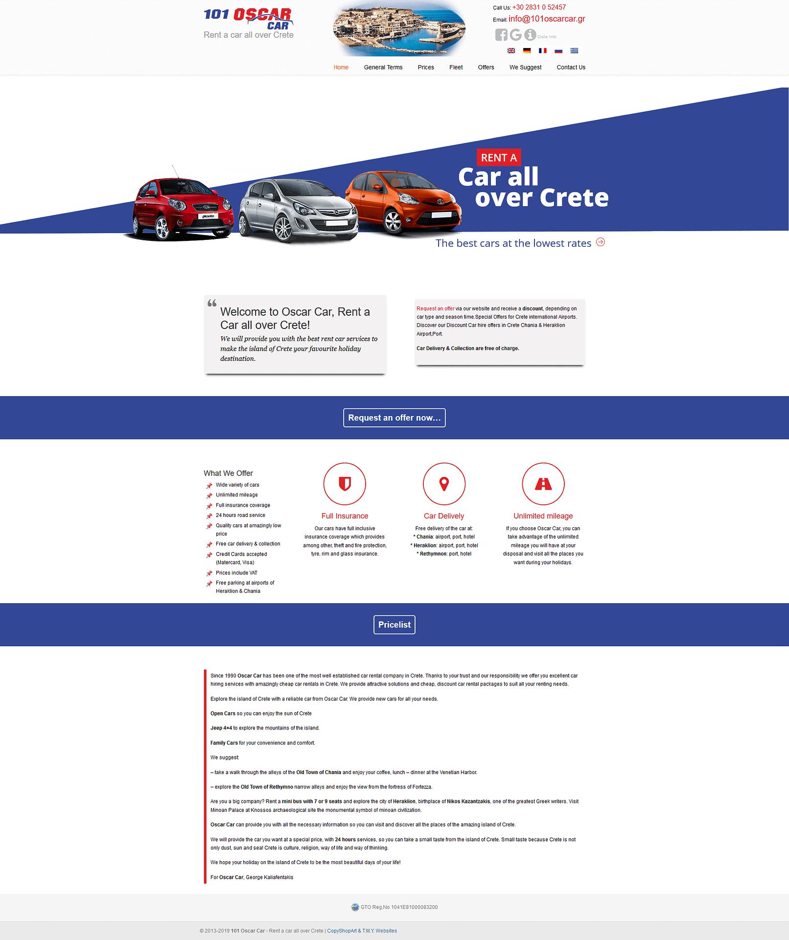 Oscar Car - TMY WEB Development
