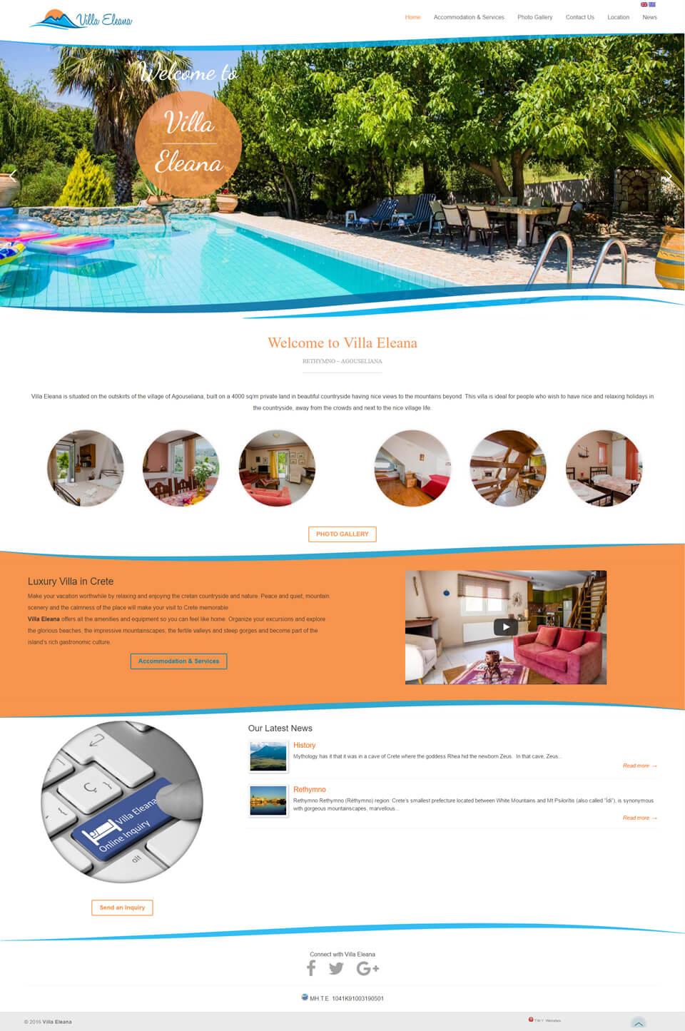 Villa Eleana - TMY WEB Development