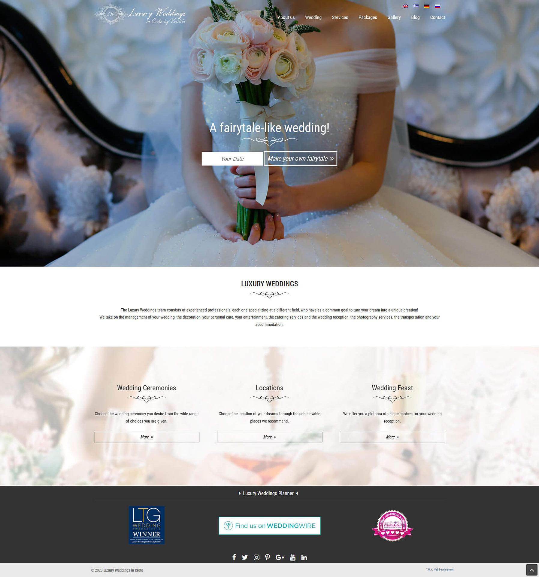 Luxury Weddings - TMY WEB Development
