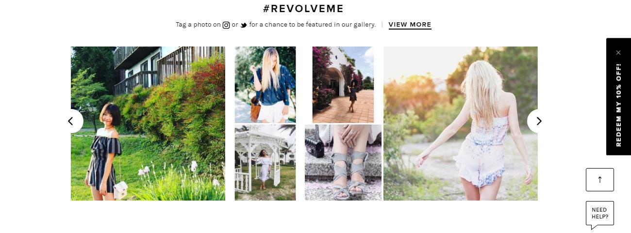Ένα παράδειγμα όπου ο πελάτης προτρέπεται να κάνει tag μία φωτογραφία στο Instagram ή στο Twitter.