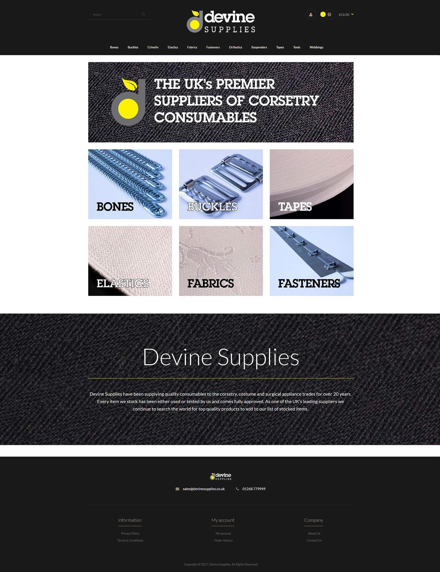 Devine Supplies - TMY WEB Development