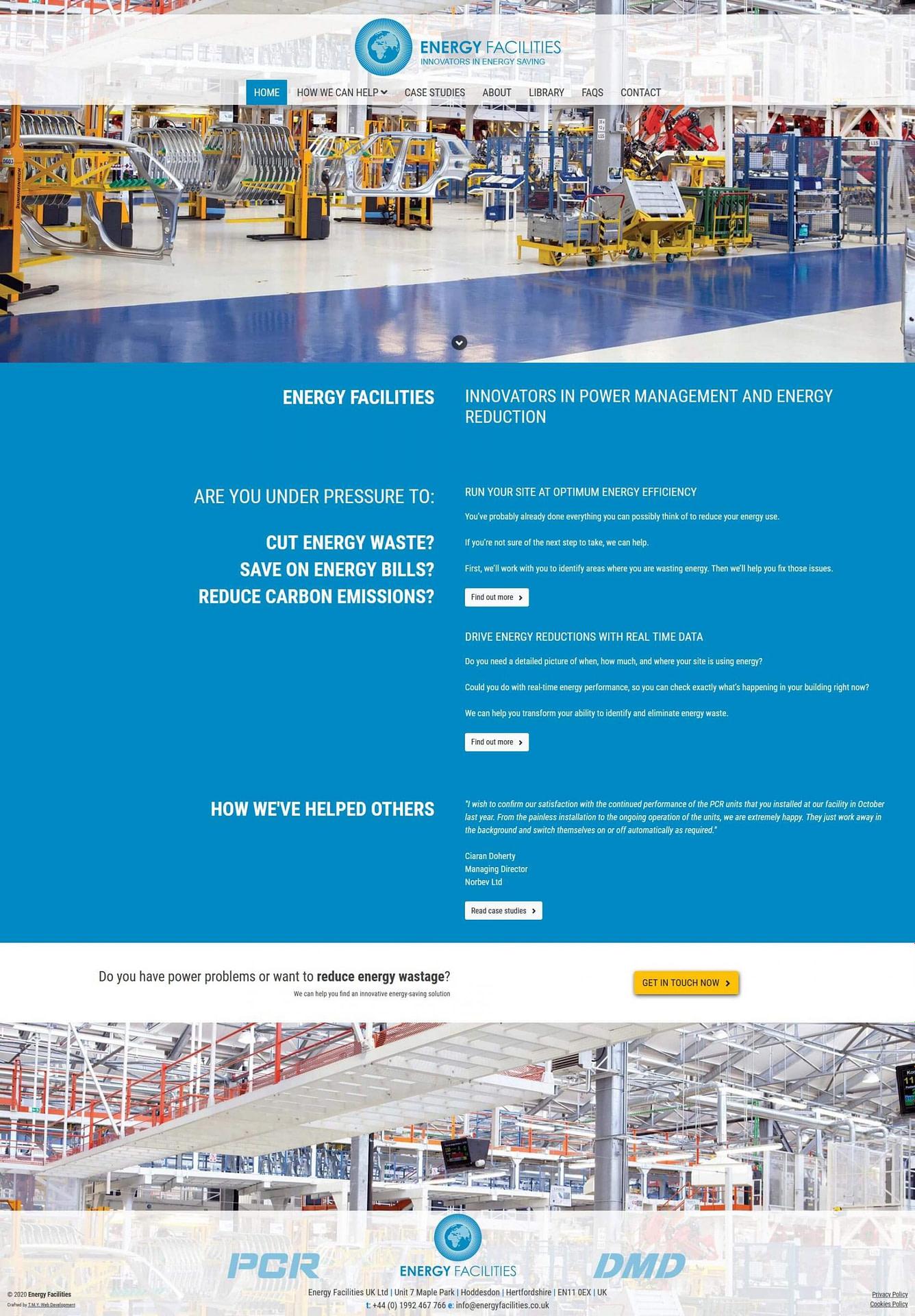 Energy Facilities - Too Mnay Years Web Development
